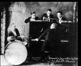 Jimmy Durante's Jazz Band (image: RedHotJazz.com)