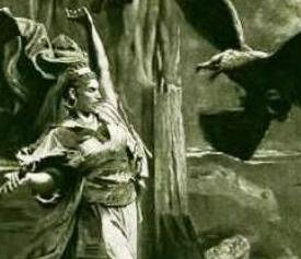 detail of 1875 painting by George Becker. See, e.g., Heroines of the Bible in Art (1900)