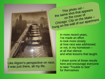 What formed the background assumptions, about race and justice, of your life?