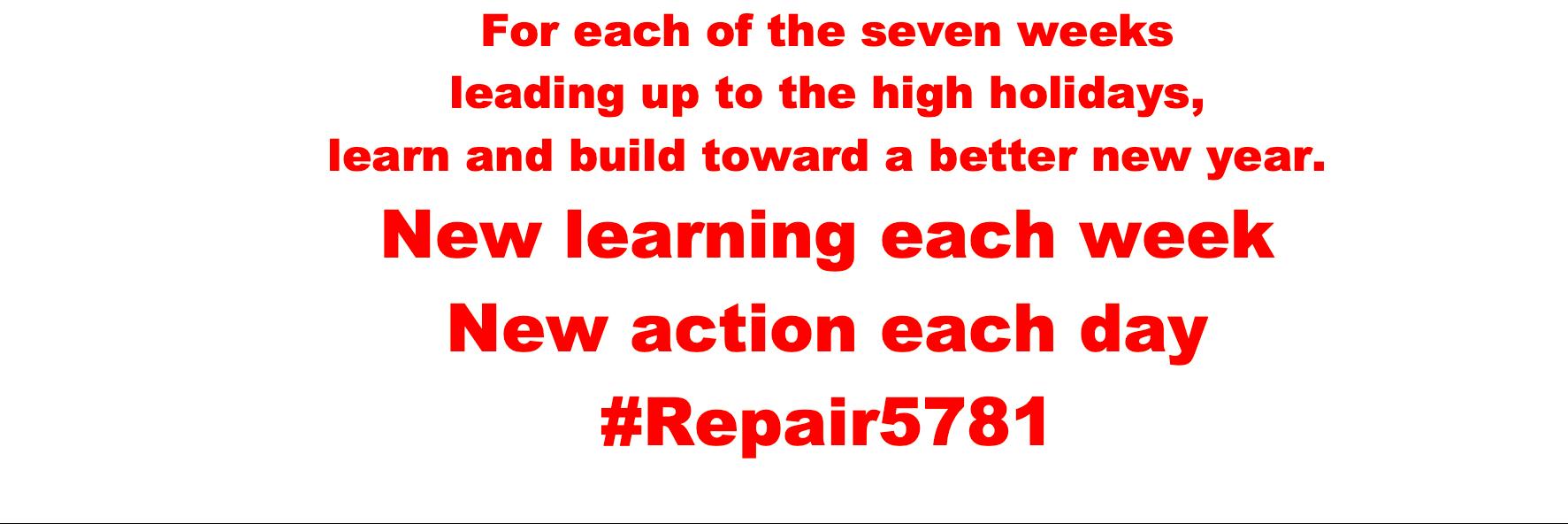 Week 1, Day 1 #Repair5781